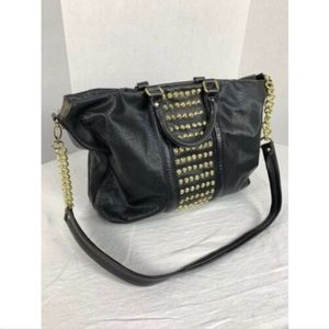 Steve Madden Stud Tote Dbl Handles Chain Strap
